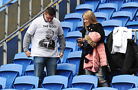 Leicester City fans wear t-shirts in memory of Vichai Srivaddhanaprabha<br /> <br /> Photographer Kevin Barnes/CameraSport<br /> <br /> The Premier League -  Cardiff City v Leicester City - Saturday 3rd November 2018 - Cardiff City Stadium - Cardiff<br /> <br /> World Copyright © 2018 CameraSport. All rights reserved. 43 Linden Ave. Countesthorpe. Leicester. England. LE8 5PG - Tel: +44 (0) 116 277 4147 - admin@camerasport.com - www.camerasport.com