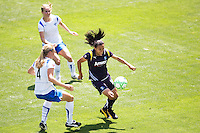 LA Sol's Marta attempts to move around Boston Breakers Stacy Bishop. The Boston Breakers and LA Sol played to a 0-0 draw at Home Depot Center stadium in Carson, California on Sunday May 10, 2009.   .