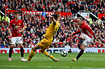Wayne Rooney of Manchester United has a shot on goal during the English Premier League match at the Old Trafford Stadium, Manchester. Picture date: May 21st 2017. Pic credit should read: Simon Bellis/Sportimage