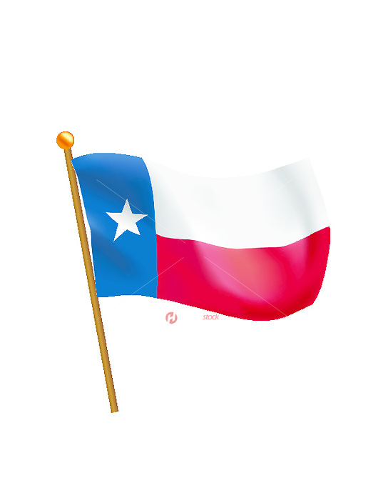 Texas State Flag Royalty Free Stock Vector Art Illustration