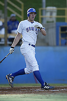 Wes Whisler of the UCLA Bruins bats during a game at Jackie Robinson Stadium on January 31, 2003 in Los Angeles, California. (Larry Goren/Four Seam Images)