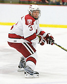 Alex Biega (Harvard - 3) - The St. Lawrence University Saints defeated the Harvard University Crimson 3-2 on Friday, November 20, 2009, at the Bright Hockey Center in Cambridge, Massachusetts.