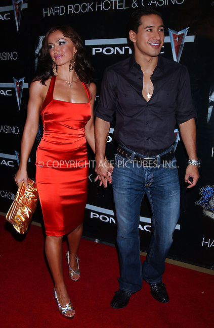 WWW.ACEPIXS.COM . . . . . ....September 8 2007, Las Vegas....Dancer Karina Smirnoff and actor Mario Lopez arriving for the 50 Cent performance at The Pontiac Garage Stage poolside at The Hard Rock Hotel and Casino in Las Vegas.....Please byline: KRISTIN CALLAHAN - ACEPIXS.COM.. . . . . . ..Ace Pictures, Inc:  ..tel: (646) 679 0430..e-mail: picturedesk@acepixs.com..web: http://www.acepixs.com