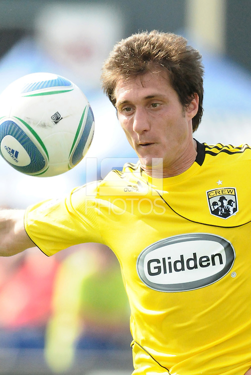 Guillermo Barros Schelotto...Kansas City Wizards were defeated 1-0 by Columbus Crew at Community America Ballpark, Kansas City, Kansas.