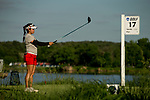 STILLWATER, OK - MAY 21: Jaclyn Lee of Ohio State lines up her drive off the 17th tee box during the Division I Women's Golf Individual Championship held at the Karsten Creek Golf Club on May 21, 2018 in Stillwater, Oklahoma. (Photo by Shane Bevel/NCAA Photos via Getty Images)