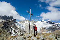 Pragraten am Grossvenediger, East Tyrol, Austria, September 2009. A circular trail leads over the Rostock Eck Summit, from where one overlooks the Venediger Group and other mountains. The new 360 degree Ost Tirol hiking trail runs partly through the High Tauern National Park and is a unique high alpine trail of 360 kilometer. Photo by Frits Meyst/Adventure4ever.com