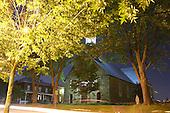 Night photo of Catholic Church in Saint-Paul-de-Joliette