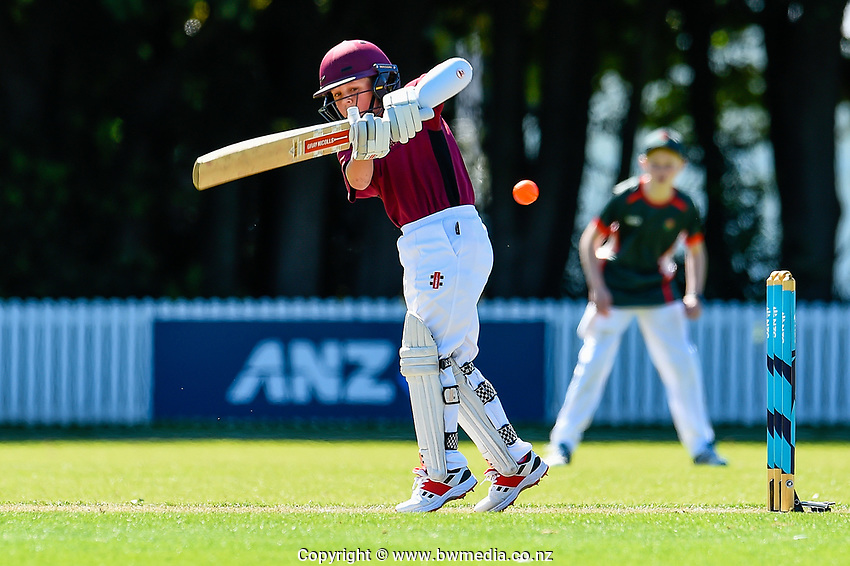 Raroa Normal Intermediate School v King's School Auckland. National Primary Cup boys' cricket tournament at Lincoln Domain in Christchurch, New Zealand on Wednesday, 20 November 2019. Photo: John Davidson / bwmedia.co.nz
