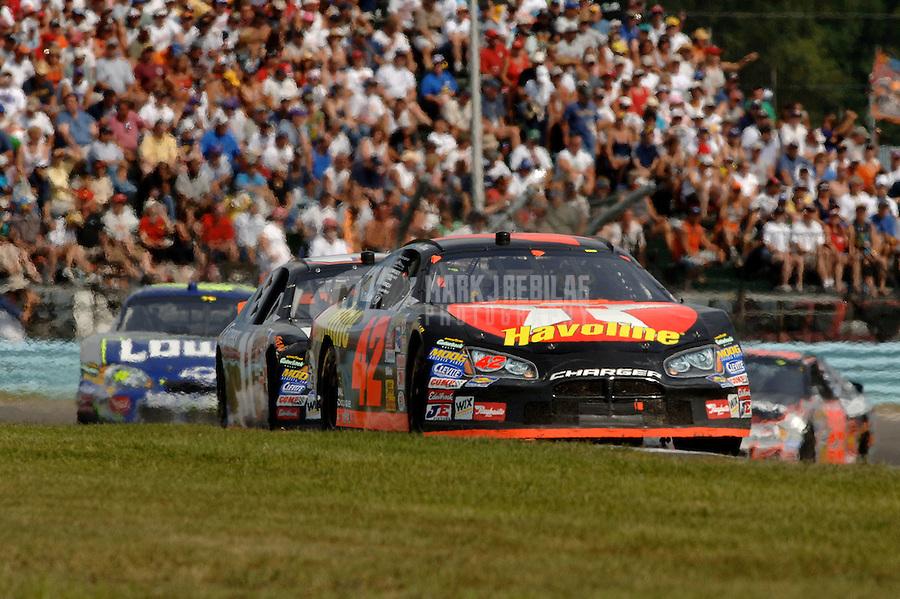 Aug. 13, 2006; Watkins Glen, NY, USA; Nascar Nextel Cup driver Casey Mears (42) during the AMD at the Glen at Watkins Glen International. Mandatory Credit: Mark J. Rebilas.