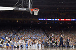 02 APR 2016:  The University of North Carolina cheers on their team against Syracuse University during the NCAA Division I Men's Final Four held at NRG Stadium in Houston, TX.  North Carolina defeated Syracuse 83-66 to advance to the finals.  Jamie Schwaberow/NCAA Photos