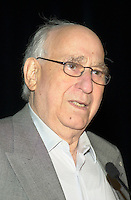 October2nd, 2000 File Photo of<br /> The founder of SAM THE RECORDMAN music chain ; Sam Sniderman,adressing the Canadian Retail Council, in Toronto.<br /> <br /> Sam Sniderman pass away at 92, September 24, 2012<br /> <br /> The 50 year old Canadian  chain filed (october 30th, 2001) for protection from it's creditors and is expecting bankrupcymainly  because of competition from chains suchs as HMV and also because of MP3.<br /> <br /> The company now owned by the son Bobby  , annonced it is closing the Younge St, flagship store on June 30, 2007.<br /> <br /> Photo by Pierre Roussel / Images Distribution