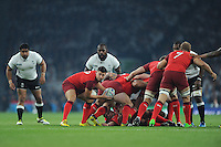 Ben Youngs of England passes during Match 1 of the Rugby World Cup 2015 between England and Fiji - 18/09/2015 - Twickenham Stadium, London <br /> Mandatory Credit: Rob Munro/Stewart Communications