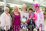 Attending the paint it pink coffee morning and Fashion Show at Ballyseedy Garden Centre  for the Irish Cancer Society on Friday were l-r Kitty O'Connell, Lyreacrompane, Elaine McDonald, Tullamore, Mary O'Sullivan, Organiser, Maureen Harris, Lyreacrompane and Amanda Lynch, customer services at Ballyseedy