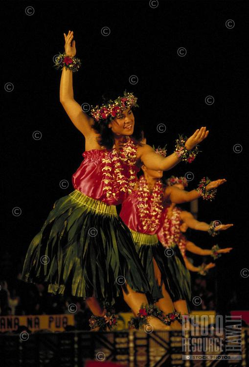 Hawaiian Hula dancers at Merrie Monarch festival
