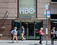 The offices of the Time Warner owned HBO in New York on Friday, July 22, 2016.  (© Richard B. Levine)