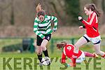 Lauen Burke Killarney Celtic goes on a mazy run against Kilcolman in the u14 FAI cup on Saturday in Celtic Park