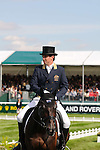 Sam Griffiths riding Happy Times during day 2 of the dressage phase at the 2012 Land Rover Burghley Horse Trials in Stamford, Lincolnshire,UK.