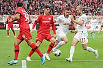 05.10.2019, BayArena, Leverkusen, GER, 1. FBL, Bayer 04 Leverkusen vs. RB Leipzig,<br />  <br /> DFL regulations prohibit any use of photographs as image sequences and/or quasi-video<br /> <br /> im Bild / picture shows: <br /> Konrad Laimer (RB Leipzig #27),  im Zweikampf gegen  Kai Havertz (Leverkusen #29),  <br /> <br /> Foto © nordphoto / Meuter