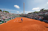 Paris, France, 25 June, 2016, Tennis, Roland Garros,  Interior of court nr. one.<br /> Photo: Henk Koster/tennisimages.com