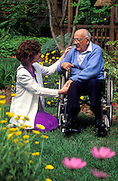 Home healthcare nurse with senior patient