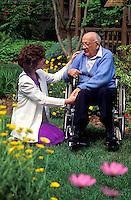 Home healthcare nurse with senior patient