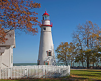 Marblehead Lighthouse State Park, OH<br /> Marblehead Lighthouse (1819) on Lake Erie, oldest lighthouse in continuous operatoin on the great lakes