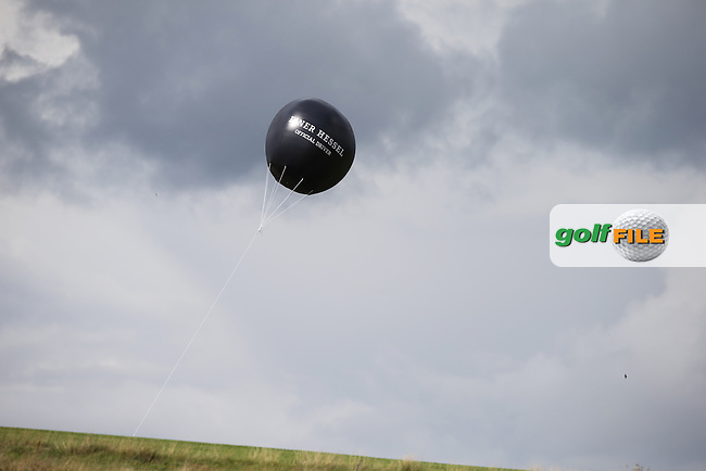 Advertising balloon during the Made in Denmark 2014 Pro-Am from the Himmerland Golf & Spa Resort, Aalborg, Denmark. Picture:  David Lloyd / www.golffile.ie