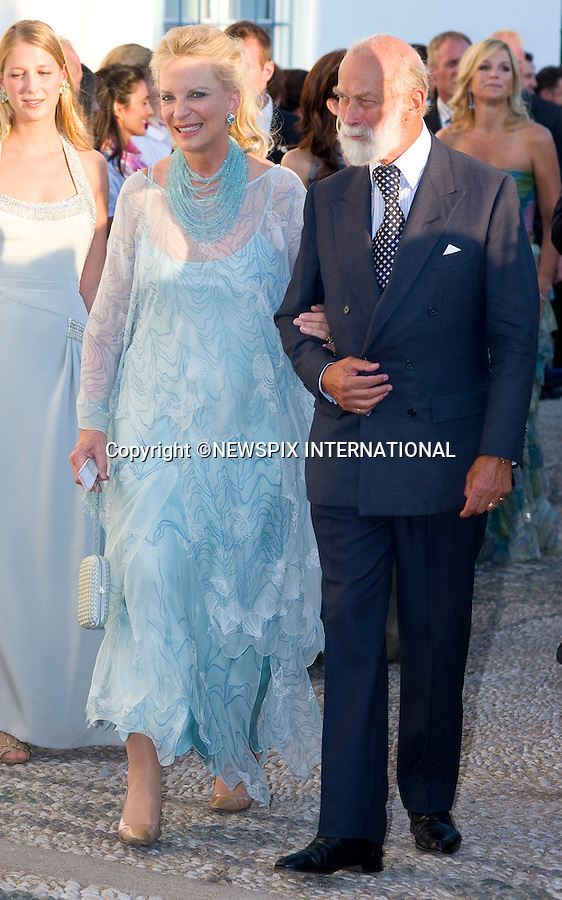 """Prince and Princess Michael of Kent_.The Wedding of Prince Nikolaos and Tatiana Blatnik attended by many members of European Royalty at St Nikolaos Church on the Island of Spetses_Grecce_24/08/2010.Mandatory Credit Photo: ©DIAS-NEWSPIX INTERNATIONAL..**ALL FEES PAYABLE TO: """"NEWSPIX INTERNATIONAL""""**..IMMEDIATE CONFIRMATION OF USAGE REQUIRED:.Newspix International, 31 Chinnery Hill, Bishop's Stortford, ENGLAND CM23 3PS.Tel:+441279 324672  ; Fax: +441279656877.Mobile:  07775681153.e-mail: info@newspixinternational.co.uk"""
