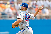 June 11, 2011:    Florida Gators rhp Karsten Whitson (22) pitches during first inning action of the NCAA Gainesville Super Regional Game 2 between Florida Gators and Mississippi State Bulldogs played at Alfred A. McKethan Stadium on the campus of Florida University in Gainesville, Florida.   Mississippi State defeated Florida 4-3.........