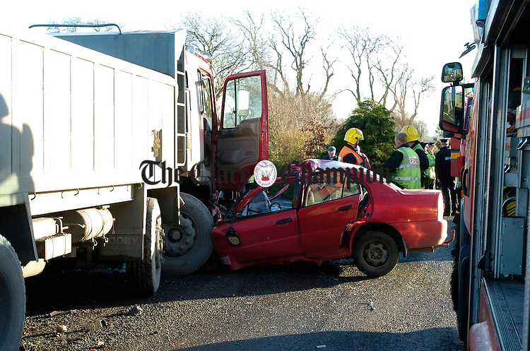 The scene jusdt outside Kilmurry on the Sixmilebridge road where the fatal accident took place. Photograph by John Kelly.