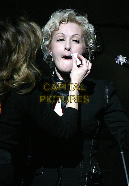 CYNDI LAUPER.in concert at Town Hall in New York City..11 March 2004.*UK Sales Only*.music, live, gig, concert, singing, make-up artist, funny, stage.www.capitalpictures.com.sales@capitalpictures.com.©Capital Pictures.