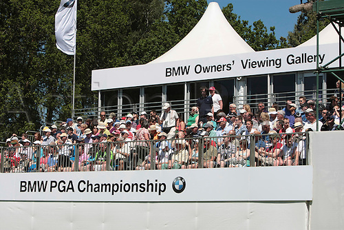 26.05.2012 Wentworth, England. Shot of the BMW owners' viweing gallery grandstand during the BMW PGA Championship. Saturday, day 3 of competition.