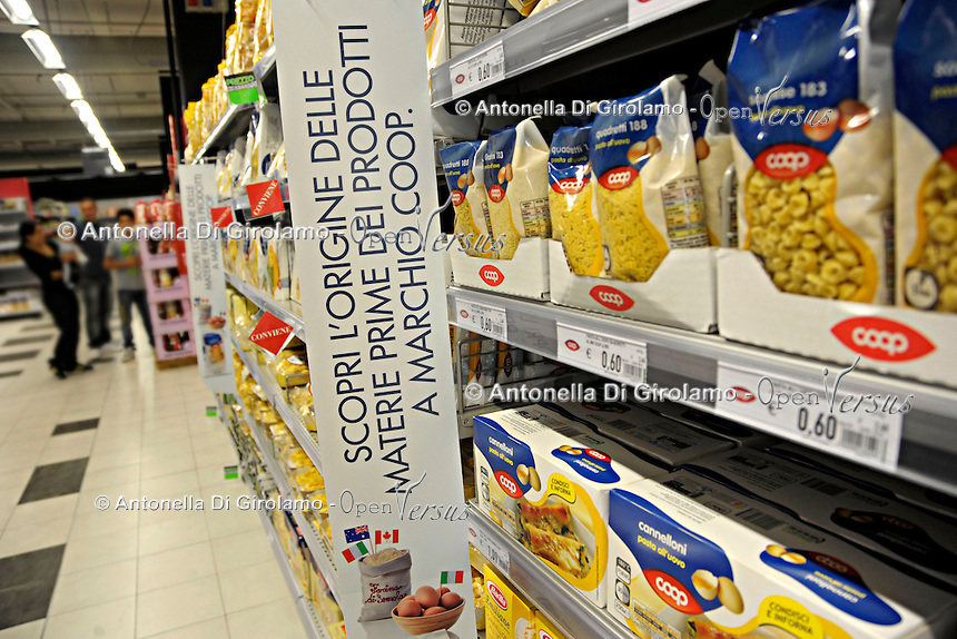 Tracciabilit&agrave; dei prodotti a marchio Coop.<br /> Campagna di comunicazione.