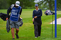 Azahara Munoz (ESP) makes her way to the tee on 3 during the round 1 of the KPMG Women's PGA Championship, Hazeltine National, Chaska, Minnesota, USA. 6/20/2019.<br /> Picture: Golffile | Ken Murray<br /> <br /> <br /> All photo usage must carry mandatory copyright credit (© Golffile | Ken Murray)