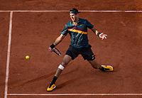 Paris, France, 3 june, 2019, Tennis, French Open, Juan Martin Del Potro (ARG) in action against  Karen Khachanov (RUS)<br /> Photo: Henk Koster/tennisimages.com