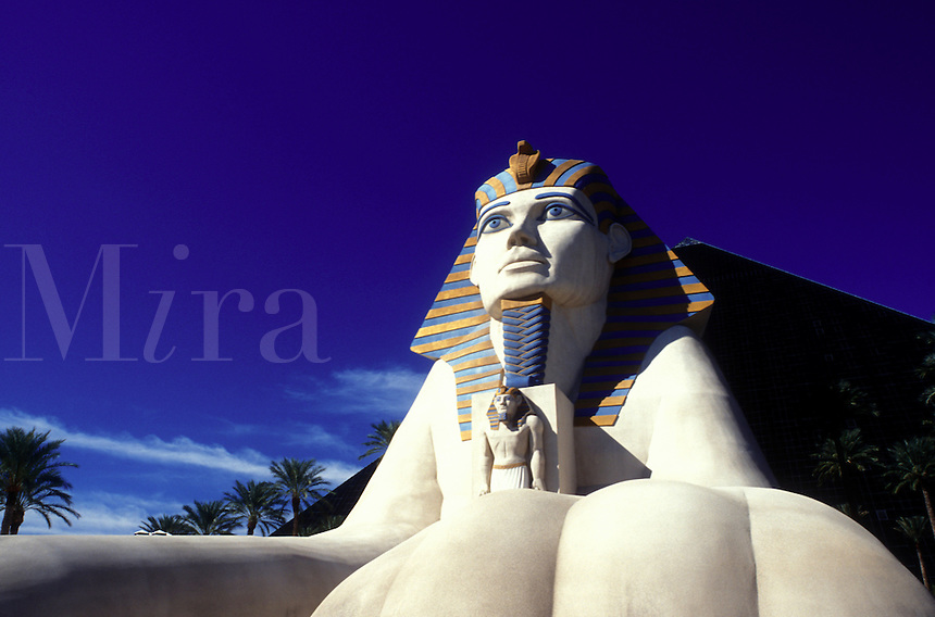 casino, Las Vegas, Luxor, sphinx, Nevada, NV, The Strip, Giant Sphinx at the entrance to Luxor Las Vegas Hotel & Casino on The Strip in Las Vegas, the Entertainment Capital of the World.