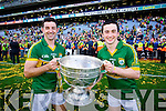 Aidan O'Mahony and Paul Murphy. Kerry players celebrate their victory over Donegal in the All Ireland Senior Football Final in Croke Park Dublin on Sunday 21st September 2014.