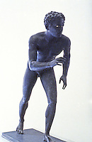 "Greek Art:  ""Wrestler"", 4th Century B.C.  National Museum, Naples.  Photo '83."