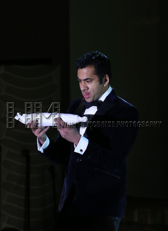 Kal Penn performs during the Drama League's 30th Annual 'Musical Celebration of Broadway' honoring Neil Patrick Harris at the Pierre Hotel on February 3, 2014 in New York City.