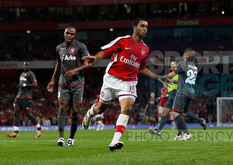 Arsenal's Theo Walcott celebrates his goal