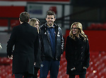 Film Star Julia Roberts with Michael Carrick of Manchester United during the Premier League match at the Old Trafford Stadium, Manchester. Picture date: November 27th, 2016. Pic Simon Bellis/Sportimage