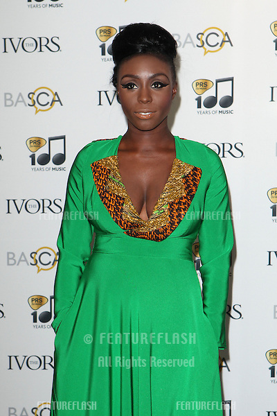 Laura Mvula arriving for the 59th Ivor Novello Awards, at the Grosvenor House Hotel, London. 22/05/2014 Picture by: Alexandra Glen / Featureflash