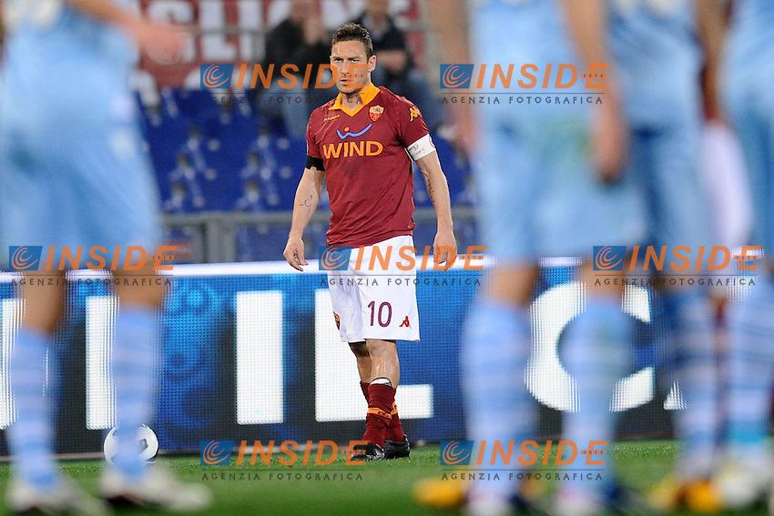 Francesco Totti Roma.08/04/2013 Roma.Stadio Olimpico.Football Calcio 2012/2013.Campionato di calcio serie A.Derby Roma vs Lazio.Foto Antonietta Baldassarre Insidefoto