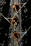 A four man crew from Northwestern rows down the river as they compete during the 68th Dad Vail Regatta on the Schuylkill River in Philadelphia, Pennsylvania on May 12, 2006........