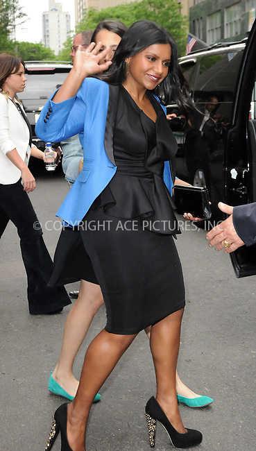 WWW.ACEPIXS.COM . . . . .  ....May 14 2012, New York City....Mindy Kaling leaving a midtown hotel on May 14 2012 in New York City....Please byline: CURTIS MEANS - ACE PICTURES.... *** ***..Ace Pictures, Inc:  ..Philip Vaughan (212) 243-8787 or (646) 769 0430..e-mail: info@acepixs.com..web: http://www.acepixs.com