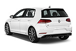 Car pictures of rear three quarter view of 2019 Volkswagen Golf R 5 Door Hatchback Angular Rear