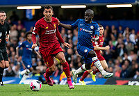 Roberto Firmino of Liverpool during the Premier League match between Chelsea and Liverpool at Stamford Bridge, London, England on 22 September 2019. Photo by Liam McAvoy / PRiME Media Images.