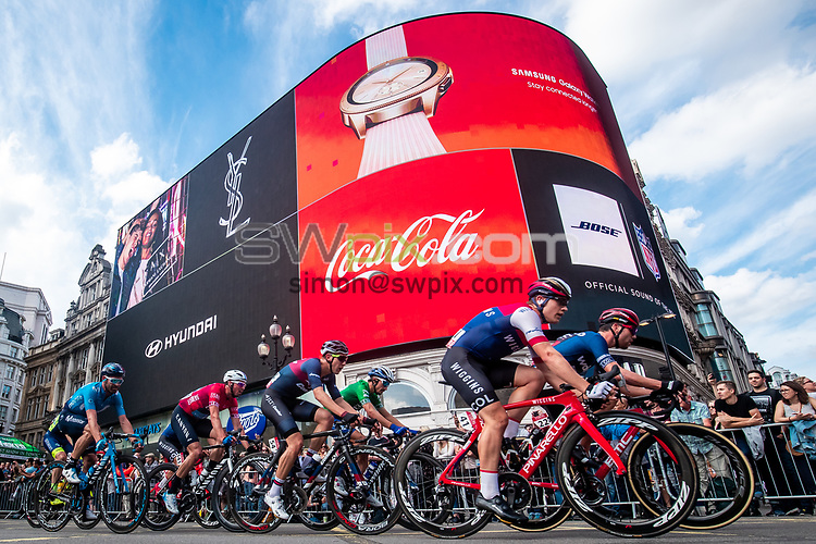 Picture by Alex Whitehead/SWpix.com - 09/09/2018 - Cycling - OVO Energy Tour of Britain - Stage 8: The London Stage - Gabriel Cullaigh of Team Wiggins in action near Piccadilly Circus.