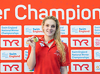 Picture by Allan McKenzie/SWpix.com - 13/12/2017 - Swimming - Swim England Winter Championships - Ponds Forge International Sport Centre - Sheffield, England - Eleanor Faulkner takes gold in the womens open 200m freestyle.