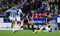 Burnley's Jack Cork competing with Huddersfield Town's Philip Billing<br /> <br /> Photographer Andrew Kearns/CameraSport<br /> <br /> The Premier League - Huddersfield Town v Burnley - Wednesday 2nd January 2019 - John Smith's Stadium - Huddersfield<br /> <br /> World Copyright © 2019 CameraSport. All rights reserved. 43 Linden Ave. Countesthorpe. Leicester. England. LE8 5PG - Tel: +44 (0) 116 277 4147 - admin@camerasport.com - www.camerasport.com